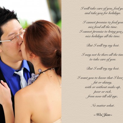 A walk down memory lane…and our wedding vows