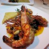 Jumbo prawn and lobster with tomato oil, shallot, lemon, garlic and herbs