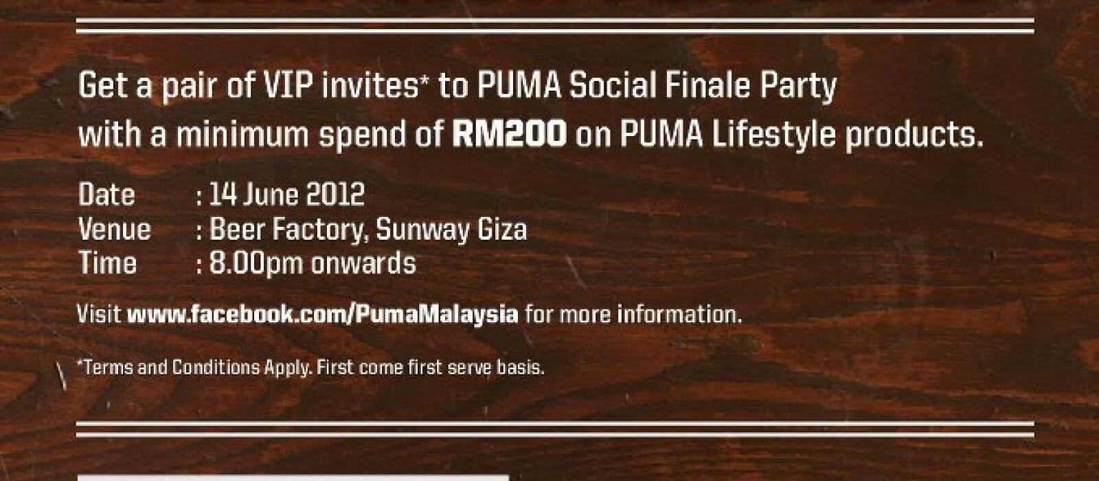 Puma Social at Beer Factory