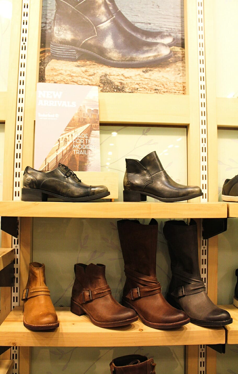 Top left: The Beckwith Leather Oxfords offers a unique gunmetal finish on polished leather.