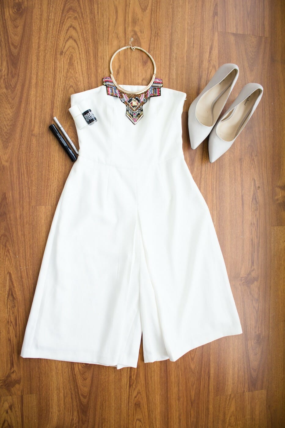Jumpsuit from Love, Bonito, shoes from Zalora