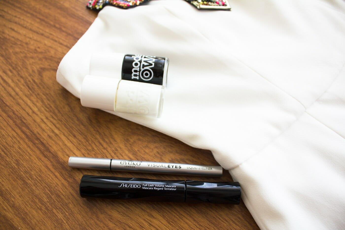 Nail polish from Models Own, eyeliner from Eyeko, mascara from Shiseido