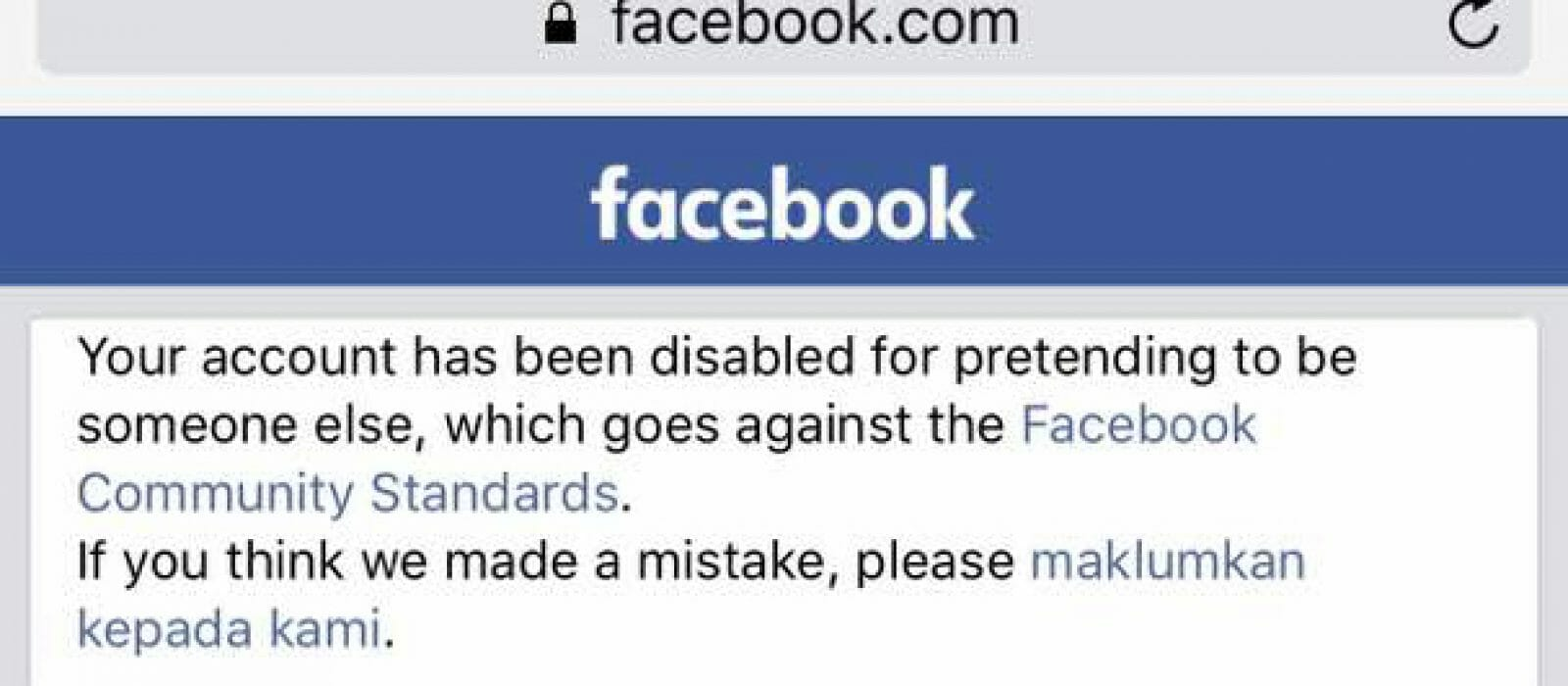Facebook Closed My Account