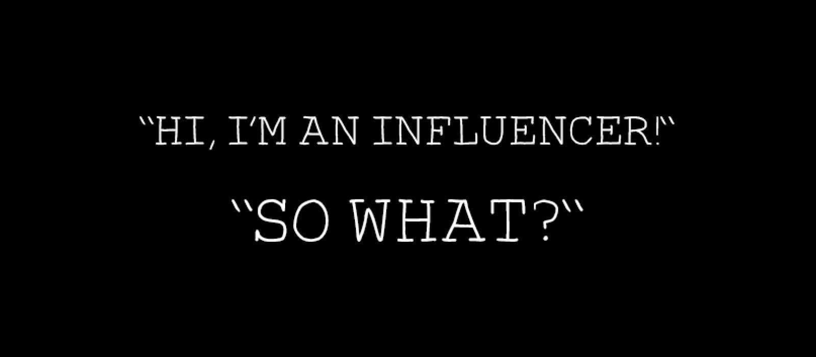 Influencer vs Consumer