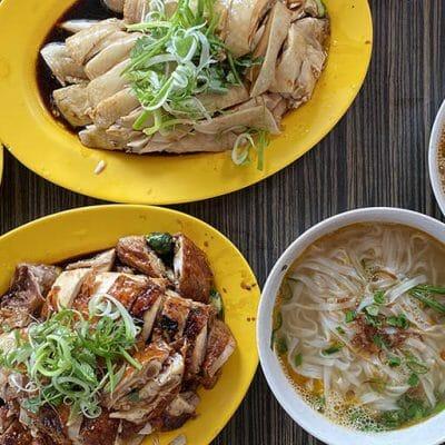 San Peng Steamed Chicken and Kai Si Hor Fun